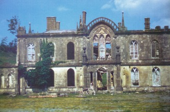 Hafod Uchtryd in ruins. Colour photograph taken before demolition in 1958. Ref. FOH.A/08/05.1