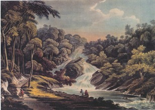 Pyran Cascade Entire, lithograph by by J. C. Stadler, ref. FOH.A/08/187.3