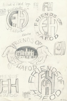 The design stage of the Friends of Hafod logo, c. 1987. Ref. FOH.B/01/19.2